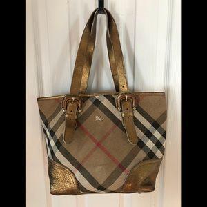 Authentic Burberry Shimmer Handbag